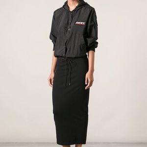 DKNY Opening Ceremony windbreaker maxi dress